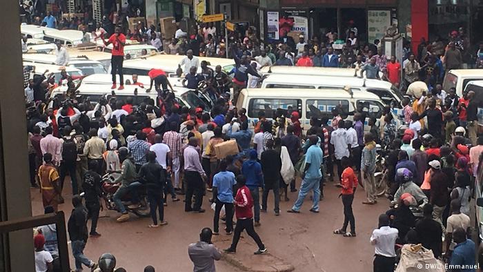 Uganda Protest gegen Social Media Steuer (DW/L. Emmanuel)