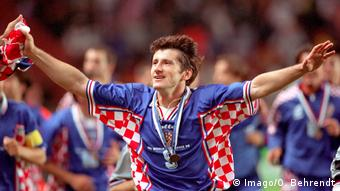 Лучший бомбардир Хорватии на чемпионатах мира Давор Шукер