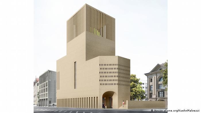 Ilustração de como deverá se parecer o edifício da fundação House of One em Berlim.