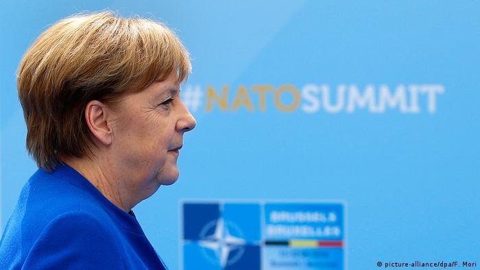 Brüssel Nato-Gipfel - Merkel (picture-alliance/dpa/F. Mori)
