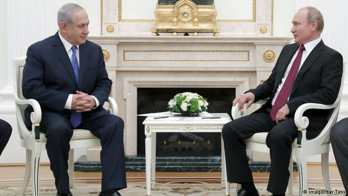 Netanyahu Moskova'da Putin ile görüşürken (11 Temmuz 2018)