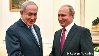 Биньямин Нетаньяху и Владимир Путин в Москве, 11 июля 2018 года