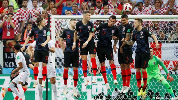 Fußball WM 2018 Kroatien vs England Tor, torjubel