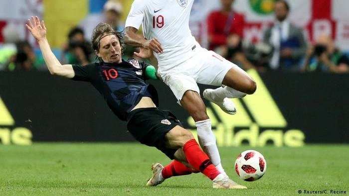 Captain Luka Modric playing in the World Cup (Reuters/C. Recine)