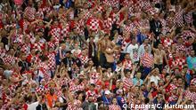 Soccer Football - World Cup - Semi Final - Croatia v England - Luzhniki Stadium, Moscow, Russia - July 11, 2018 Croatia fans REUTERS/Christian Hartmann