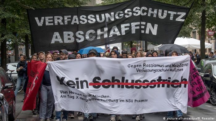 Deutschland   Proteste nach dem Urteil im NSU-Prozess in Berlin