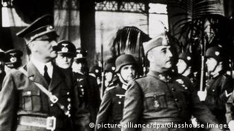 Adolf Hitler und Francisco Franco in Hendaye, Frankreich, Oktober 23, 1940 (picture-alliance/dpa/Glasshouse Images)