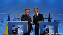 Brüssel NATO-Gipfel | Petro Poroschenko & Jens Stoltenberg