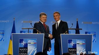 Президент України Петро Порошенко і генсек Альянсу Єнс Столтенберг на саміті Україна-НАТО у Брюсселі, липень 2018