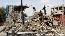 Yemen Aden zerstörte Gebäude