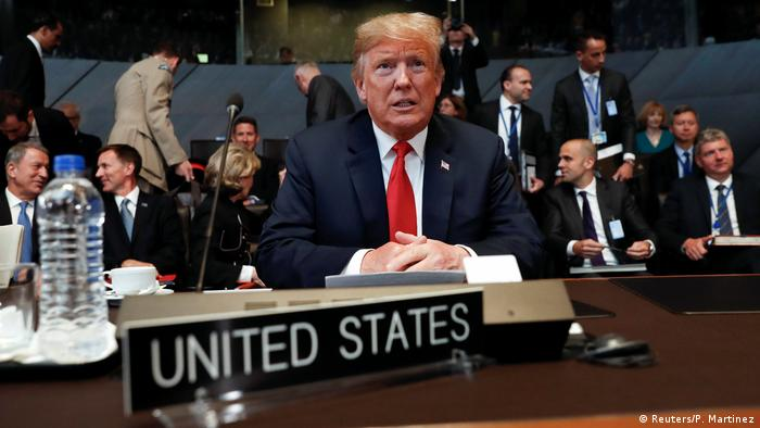 Дональд Трамп на саммите НАТО в Брюсселе, 11 июля