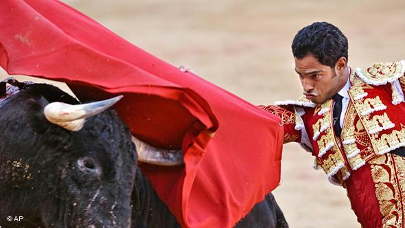 Pamplona Stierkampf Stier Hatz