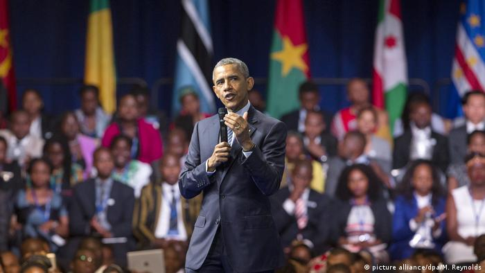 USA Obama - Young African Leaders Initiative (picture alliance/dpa/M. Reynolds)