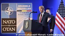 Belgien Brüssel Pressekonferenz Donald Trump