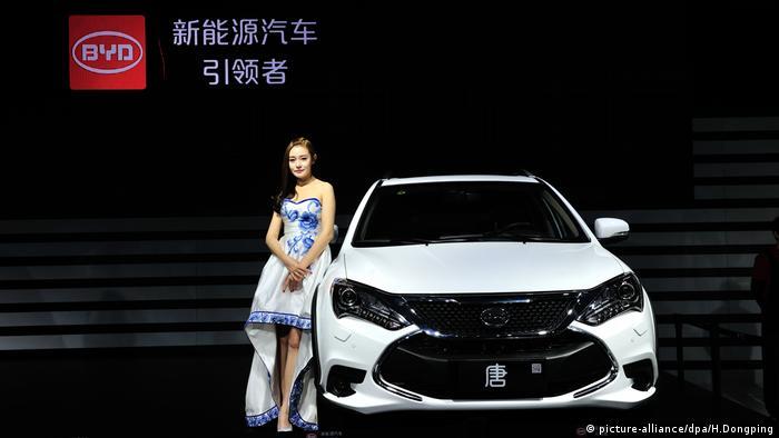 Chinas führender Elektrofahrzeughersteller BYD (picture-alliance/dpa/H.Dongping)