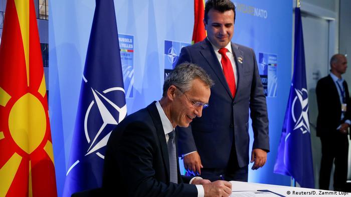 NATO Gipfel in Brüssel Mazedonien Einladung zu Beitrittsgesprächen