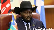 South Sudan President Salva Kiir attends a South Sudan peace meeting as part of talks to negotiate an end to a civil war that broke out in 2013, in Khartoum, Sudan June 25, 2018. REUTERS/Mohamed Nureldin Abdallah