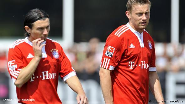 Pranjić i Olić na prvom treningu u Bayernu