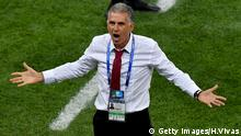 SARANSK, RUSSIA - JUNE 25: Carlos Queiroz, Head coach of Iran reacts during the 2018 FIFA World Cup Russia group B match between Iran and Portugal at Mordovia Arena on June 25, 2018 in Saransk, Russia. (Photo by Hector Vivas/Getty Images)