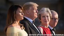 Großbritannien | May empfängt Trump zu Galadinner in Blenheim Palace (picture-allianc/empics/S. Rousseau)