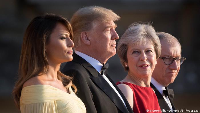 Großbritannien | May empfängt Trump zu Galadinner in Blenheim Palace
