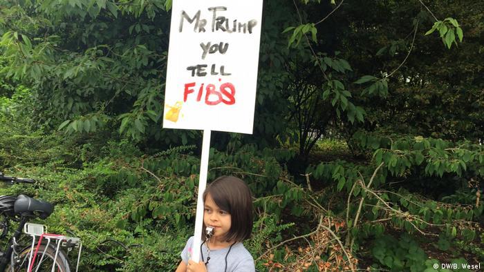 Anti-Trump protestor in London