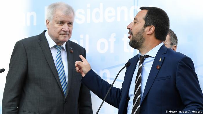 Bundesinnenminister Horst Seehofer und der italienische Ressortchef Matteo Salvini (Foto: Getty Images/A. Gebert)