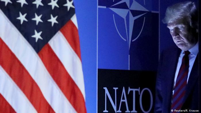 Дональд Трамп на саммите НАТО в Брюсселе, июнь 2018 года