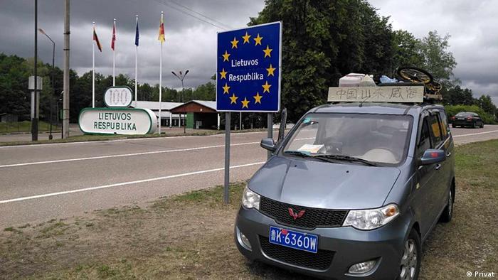 Chinesisches Ehepaar, die nur mit einem kleinen Auto 2 Monate in Europa unterwegs sind (Privat)