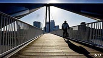 Radfahrer in Düsseldorf