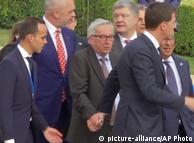 Жан-Клод  Юнкер во время саммита НАТО