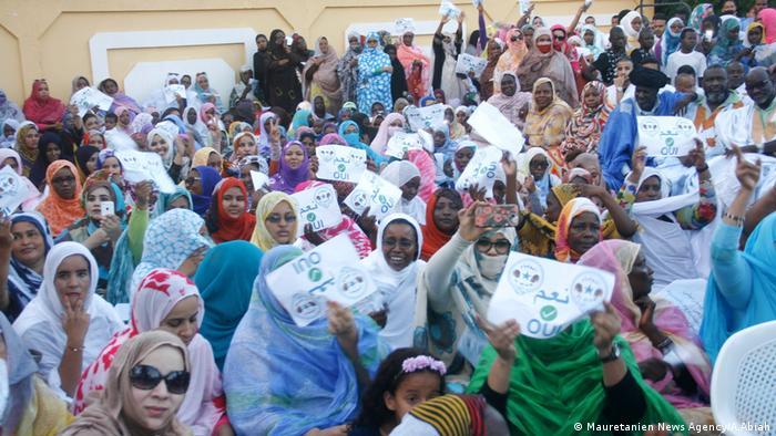 Wahl-Veranstaltung von Wiamm Party in Mauretanien