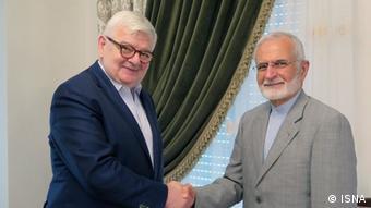 دیدار کمال خرازی و یوشکا فیشر، وزرای اسبق امور خارجه ایران و آلمان، در ۱۹ تیر