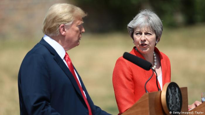 Großbritannien PK Donald Trump und Theresa May (Getty Images/J. Taylor)