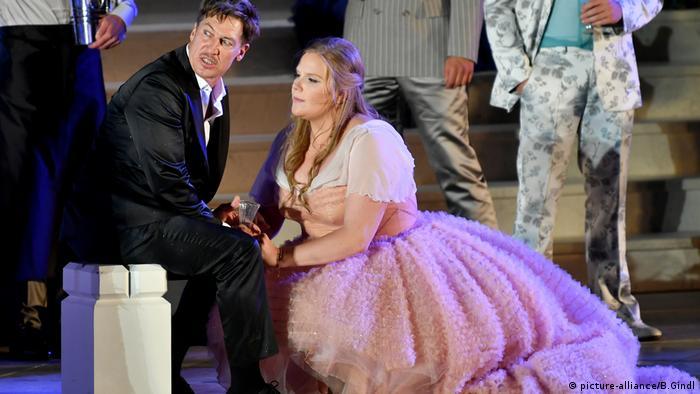 Theater performer Tobias Moretti playing Jedermann