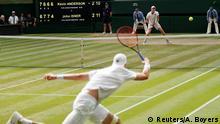 Tennis Wimbledon 2018 Halbfinale John Isner - Kevin Anderson