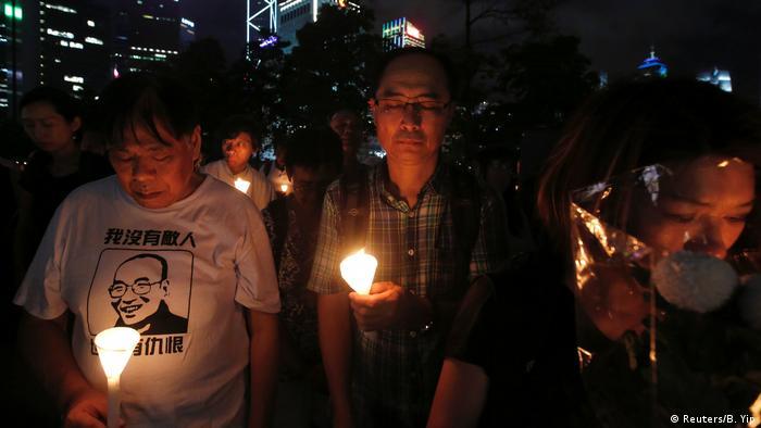 Honkkong Gedenken 1. Jahrestag Todestag Liu Xiaobo
