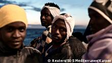 Migrants on board the MV Aquarius (Reuters/SOS Mediterranee/Karpov)