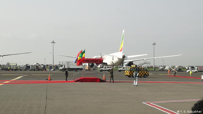 Afwerki's plane lands at Eritrea's airport