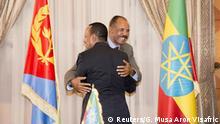 Eritrea - Der äthiopische Ministerpräsident Abiy und der eritreischen Staatschef Afewerki