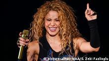 ISTANBUL, TURKEY - JULY 11: Colombian singer Shakira performs at Vodafone Park as part of her 6th world tour 'El Dorado' in Istanbul, Turkey on July 11, 2018. Salih Zeki Fazlioglu / Anadolu Agency | Keine Weitergabe an Wiederverkäufer.