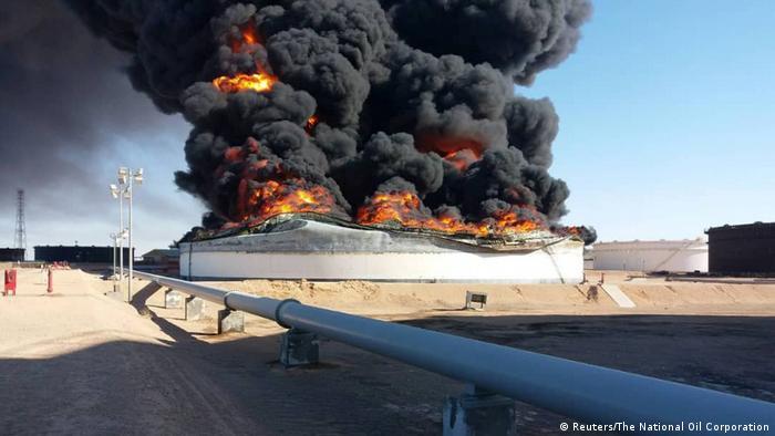 Libyen - Öl-Brand (Reuters/The National Oil Corporation)