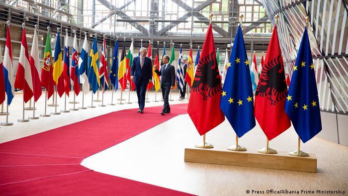 Donald Tusk und Rama Brüssel