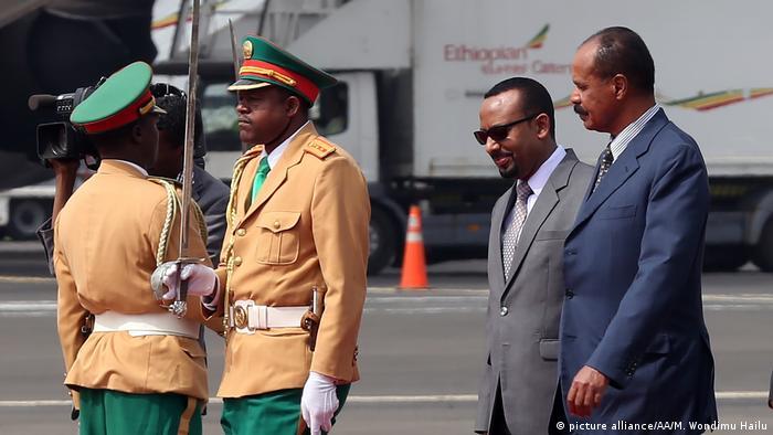 Äthiopien - Besuch des Präsidenten Isayas Afewerki aus Eritrea