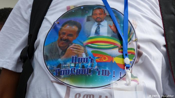 A t-shirt showing the presidents of Eritrea and Ethiopia