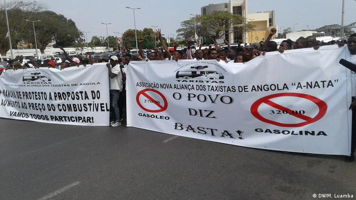 Angola Demonstration in Luanda (DW/M. Luamba)