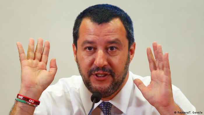 Itanlien Minister Salvini (Reuters/T. Gentile)