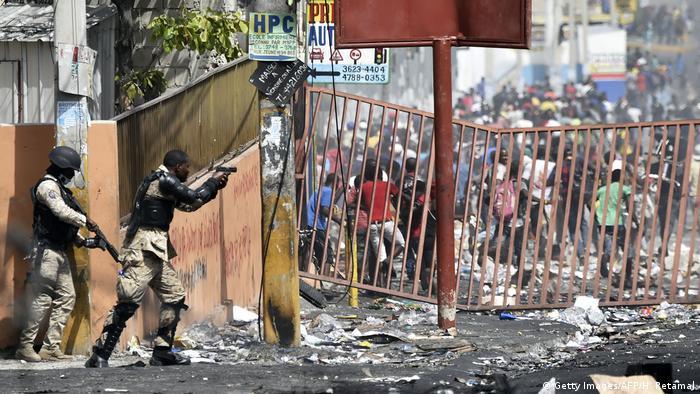 Haiti Port au Prince Proteste Ausschreitungen Plünderungen