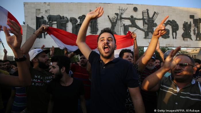 A demonstration against unemployment in Baghdad
