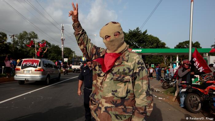 Apoiador de Ortega na Nicarágua